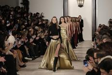 Models present creations during the Ralph Lauren Fall/Winter 2016 collection during New York Fashion Week in New York, February 18, 2016. REUTERS/Brendan McDermid