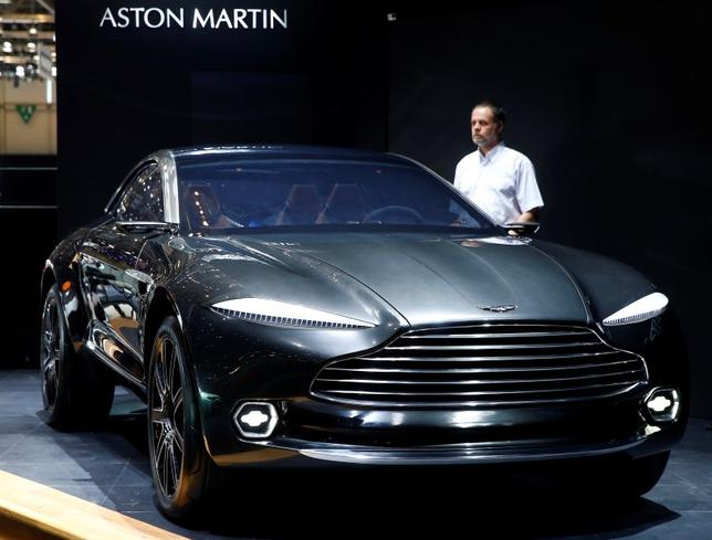 The Aston Martin DBX concept car is seen during the first press day ahead of the 85th International Motor Show in Geneva March 3, 2015. REUTERS/Arnd Wiegmann
