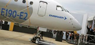 CEO da Embraer, Frederico Curado, durante apresentação do novo jato E190-E2, em São José dos Campos (SP). 25/02/2016. REUTERS/Nacho Doce