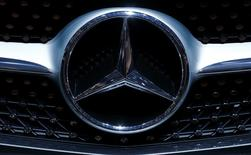A logo on Mercedes-Benz car is seen at the 86th International Motor Show in Geneva, Switzerland, March 1, 2016.  REUTERS/Denis Balibouse