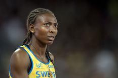 Sweden's 1,500 metres indoor world champion Abeba Aregawi is pictured in Beijing in this August 25, 2015 file photo.  REUTERS/Jessica Gow/TT News Agency/Files