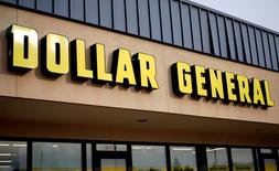 The sign outside the Dollar General store in Westminster, Colorado is pictured December 4, 2014. REUTERS/Rick Wilking