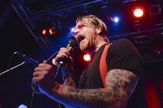 Singer of Eagles of Death Metal, Jesse Hughes, is pictured at the concert at Debaser Medis in Stockholm, Sweden, February 13, 2016.  REUTERS/Vilhelm Stokstad/TT News Agency