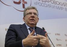 """Russia's former Finance Minister Alexei Kudrin gestures during a session of the Gaidar Forum 2016 """"Russia and the World: Looking to the Future"""" in Moscow, Russia, January 14, 2016. REUTERS/Sergei Karpukhin"""