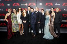 """Elenco de """"Batman vs Superman: A Origem da Justiça"""" durante evento em Nova York.    21/03/2016      REUTERS/Eduardo Munoz"""