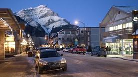 An early evening view of downtown Banff, Alberta in this file photo dated December 1, 2009.   REUTERS/Andy Clark