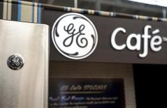 A General Electric refrigerator is seen on sale at an appliance store in Westminster, Colorado January 15, 2016. REUTERS/Rick Wilking