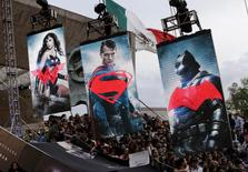 """Fans wait for the arrival of cast members of the movie """"Batman v Superman: Dawn Of Justice"""" in Mexico City, Mexico, March 19, 2016. REUTERS/Henry Romero"""