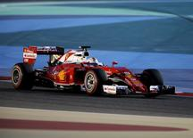 Formula One - Bahrain F1 Grand Prix - Sakhir, Bahrain - 02/04/16 - Ferrari F1 driver, Sebastian Vettel of Germany drives during qualifying session for Bahrain F1 GP. REUTERS/Hamad I Mohammed
