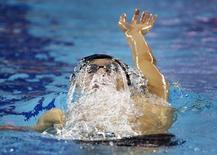 Gold medallist Kosuke Hagino of Japan competes during the men's 400m individual medley final at the Munhak Park Tae-hwan Aquatics Center during the 17th Asian Games in Incheon September 24, 2014. REUTERS/Kim Kyung-hoon