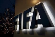 Logo da Fifa visto em Zurique.    17/12/2015        REUTERS/Ruben Sprich