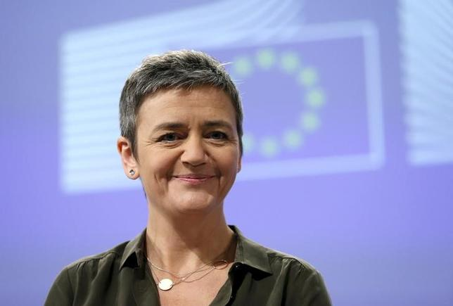 European Competition Commissioner Margrethe Vestager looks on as she addresses a news conference in Brussels, Belgium, January 11, 2016. REUTERS/Francois Lenoir