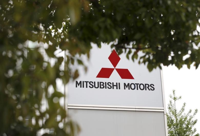 The logo of Mitsubishi Motors Corp is seen at its headquarters in Tokyo, Japan, April 21, 2016.   REUTERS/Toru Hanai