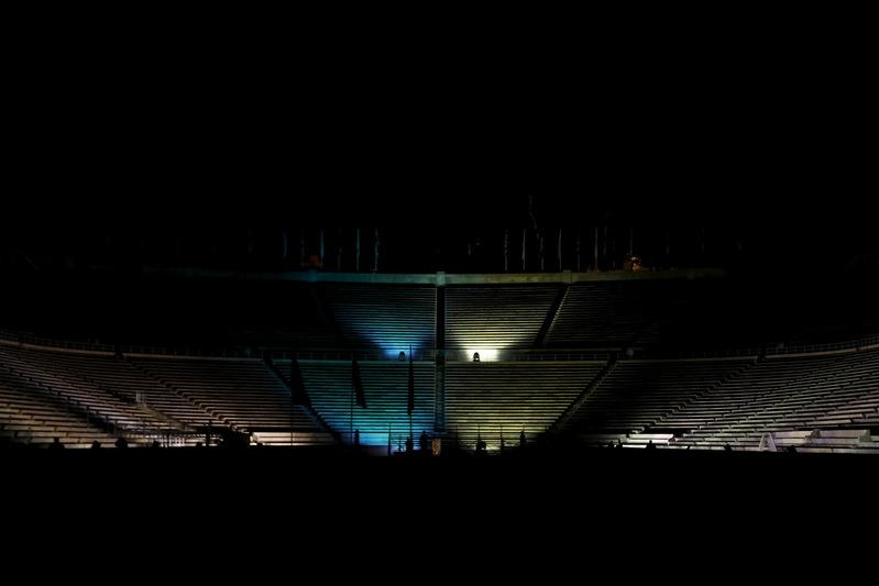 b8ac423c4248 ... illuminate the Panathenaic Stadium in honour of Brazil
