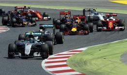 Formula One - Spanish Grand Prix - Barcelona-Catalunya racetrack, Montmelo, Spain - 15/5/16 Mercedes F1 driver Nico Rosberg of Germany leads pack during Spanish Grand Prix. REUTERS/Albert Gea
