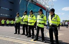 Britain Soccer Football - Manchester United v AFC Bournemouth - Barclays Premier League - Old Trafford - 15/5/16General view of police outside the stadium after the match was abandonedReuters / Andrew YatesLivepic