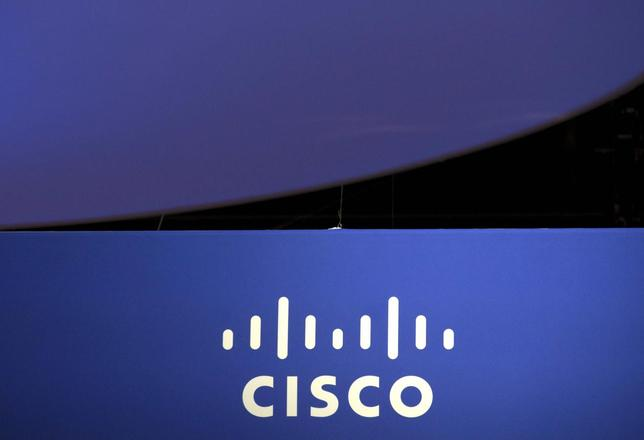 The Cisco Systems logo is seen as part of a display at the Microsoft Ignite technology conference in Chicago, Illinois, May 4, 2015. REUTERS/Jim Young/File Photo
