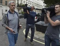 Former Chelsea manager Jose Mourinho leaves his house in London, Britain May 22, 2016. REUTERS/Toby Melville