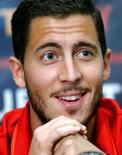 Jogador belga Eden Hazard em coletiva de imprensa 27/05/2016 REUTERS/Denis Balibouse