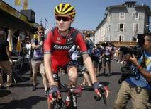 BMC Racing rider Tejay van Garderen of the U.S. arrives before the start of the 167-km (103.7 miles) 10th stage of the 102nd Tour de France cycling race from Tarbes to La Pierre-Saint -Martin, France, July 14, 2015. REUTERS/Benoit Tessier