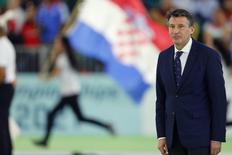 Sebastian Coe, President of the IAAF, looks on during opening ceremonies for the IAAF World Indoor Athletics Championships in Portland, Oregon March 17, 2016.   REUTERS/Mike Blake