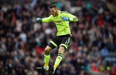 David de Gea durante partida do Manchester United.  21/05/2016   Reuters / Dylan Martinez Livepic