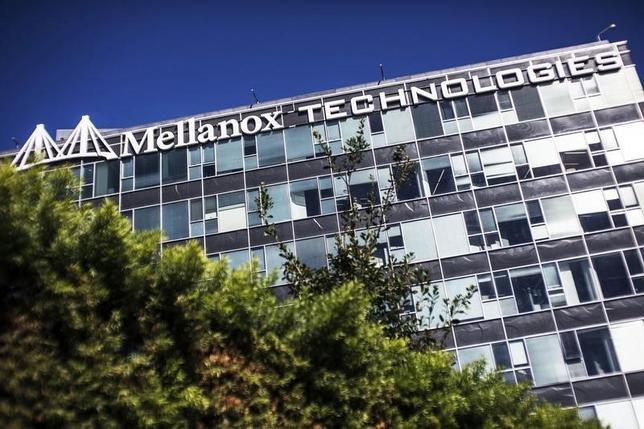 The logo of Mellanox Technologies is seen on one of its office buildings in the northern Israeli town of Yokneam October 9, 2013.   REUTERS/Nir Elias