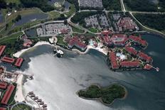Vista aérea do resort onde uma criança foi morta por um crocodilo, em Orlando.   15/06/2016        REUTERS/Adrees Latif.