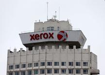 The logo of Xerox company is seen on a building in Minsk, Belarus, March 21, 2016.  REUTERS/Vasily Fedosenko