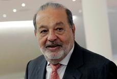 Mexican tycoon Carlos Slim walks after he launched a free online platform for education with free access to mobile WiFi connections to the Internet on his Infinitum service during a news conference at Soumaya museum in Mexico City, Mexico, June 15, 2016. REUTERS/Henry Romero