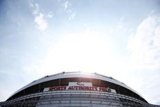 Sep 13, 2015; Denver, CO, USA; A general view before the game between the Denver Broncos and the Baltimore Ravens outside Sports Authority Field at Mile High. Mandatory Credit: Chris Humphreys-USA TODAY Sports