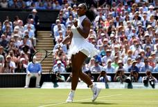 Britain Tennis - Wimbledon - All England Lawn Tennis & Croquet Club, Wimbledon, England - 7/7/16 USA's Serena Williams celebrates winning her match against Russia's Elena Vesnina REUTERS/Toby Melville