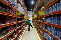 A man looks at products inside the Zona+ store, in Havana, Cuba July 11, 2016. REUTERS/Enrique de la Osa