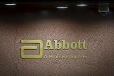 An Abbott company logo is pictured at the reception of its office in Mumbai, India, September 8, 2015.   REUTERS/Shailesh Andrade