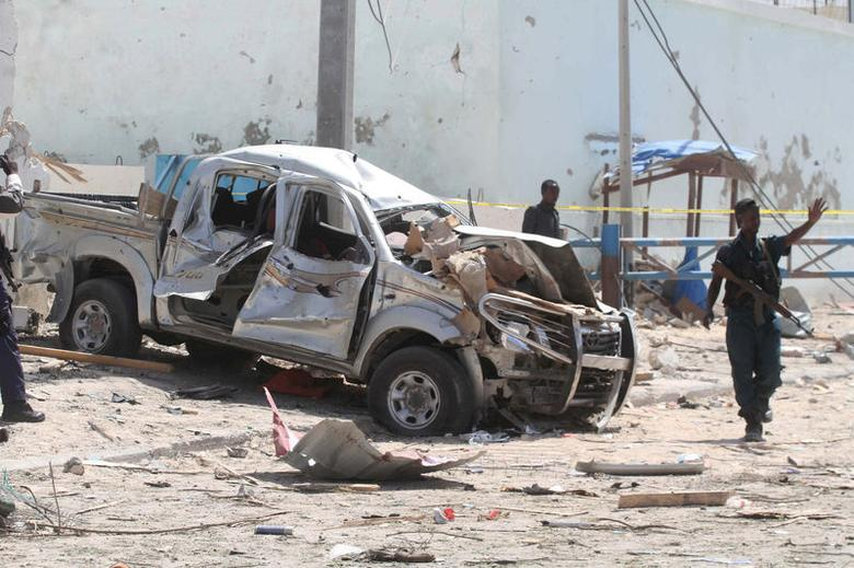 13 people killed in Somali suicide bombing claimed by...