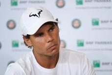 Rafael Nadal of Spain attends a news conference REUTERS/Stringer