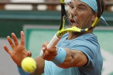 Nadal em partida contra argentino Facundo Bagnis em Roland Garros  26/05/16REUTERS/Pascal Rossignol