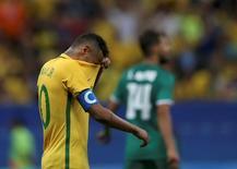Neymar visto em partida contra Iraque no Estádio Mané Garrincha, em Brasília.    07/08/2016     REUTERS/Ueslei Marcelino