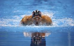 Michael Phelps durante competição dos 200 metros borboleta na Rio 2016.     08/08/2016     REUTERS/David Gray