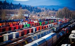 The Canadian Pacific railyard is pictured in Port Coquitlam, British Columbia February 15, 2015.  REUTERS/Ben Nelms