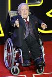 Kenny Baker who plays R2 D2 arrives at the European Premiere of Star Wars, The Force Awakens in Leicester Square, London, December 16, 2015.       REUTERS/Paul Hackett