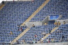 2016 Rio Olympics - Athletics - Preliminary - Men's 200m Round 1 - Olympic Stadium - Rio de Janeiro, Brazil - 16/08/2016. Empty seats     REUTERS/Dylan Martinez