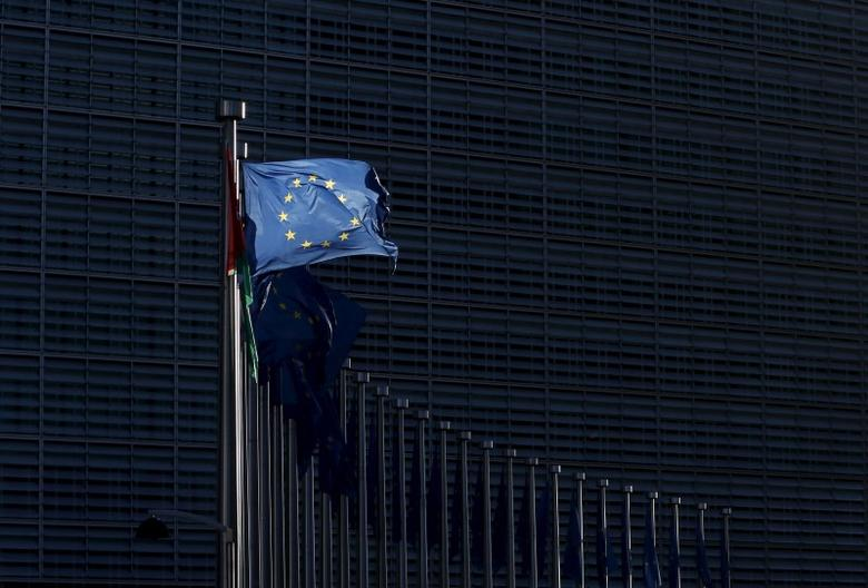 An European Union flag flutters outside the EU Commission headquarters in Brussels, Belgium, January 12, 2016. REUTERS/Francois Lenoir
