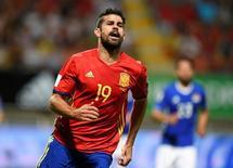 Diego Costa contra Liechtenstein. 05/09/2016 REUTERS/Eloy Alonso