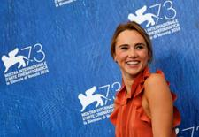 """Actress Suki Waterhouse attends the photocall for the movie """"The Bad Batch"""" at the 73rd Venice Film Festival in Venice, Italy September 6, 2016. REUTERS/Alessandro Bianchi"""