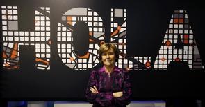 El endeudado grupo aceitero Deoleo anunció el miércoles un giro en su gestión con la renovación de su cúpula directiva, dando entrada al italiano Pierluigi Tosato como consejero delegado y a Rosalía Portela como presidenta, cargo que asumirá también labores ejecutivas. En la imagen de archivo, Portela durante su etapa como consejera delegada de la operadora de cable ONO durante una entrevista con Reuters en el en el congreso mundial del móvil de Barcelona, el 24 de febrero de 2014. REUTERS/Gustau Nacarino