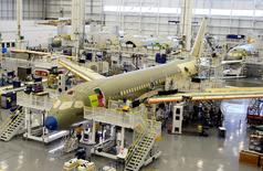 Bombardier's C Series aircrafts are assembled in their plant in Mirabel, Quebec, Canada April 29, 2016.  REUTERS/Christinne Muschi/File Photo