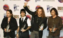 Imagen de archivo de la banda mexicana de pop Maná.  REUTERS/Henry Romero (MEXICO)