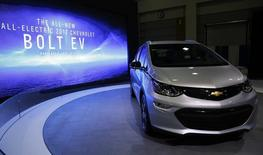 The 2017 Chevrolet Bolt EV is seen at the Washington Auto Show in Washington January 29, 2016.  REUTERS/Gary Cameron