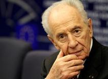 Шимон Перес на пресс-конференции в Европарламенте. Бывший президент Израиля и ветеран израильской политики Шимон Перес скончался в Тель-Авиве в возрасте 93 лет.  REUTERS/Jean-Marc Loos/File Photo